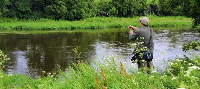 łowienie w rzece