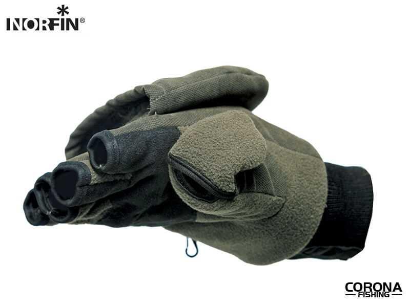 zimowe rękawice wędkarskie